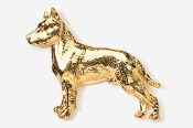 #460AG - Amstaff Terrier 24K Gold Plated Pin