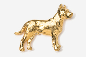 #460BG - Pit Bull 24K Gold Plated Pin