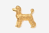 #461DG - Pet Clip Poodle 24K Gold Plated Pin