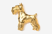 #461G - Schnauzer 24K Gold Plated Pin