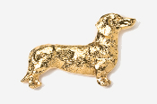 #462G - Smooth Dachshund 24K Gold Plated Pin
