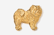 #464G - Chow 24K Gold Plated Pin