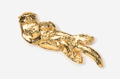 #474G - Sea Otter & Baby 24K Gold Plated Pin