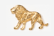 #493G - Lion 24K Gold Plated Pin