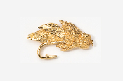 #512G - Muddler Minnow 24K Gold Plated Pin