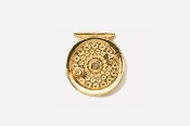 #521G - Fly Reel 24K Gold Plated Pin