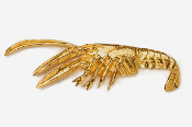 #527G - Crawfish 24K Gold Plated Pin