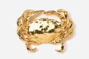 #531AG - Dungeness Crab 24K Gold Plated Pin