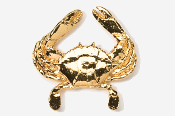 #531G - Crab 24K Gold Plated Pin