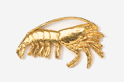 #532G - Shrimp 24K Gold Plated Pin