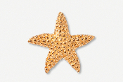 #539BG - Medium Starfish 24K Gold Plated Pin