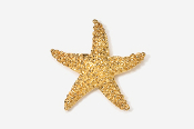 #539G - Starfish 24K Gold Plated Pin