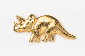 #623G - Triceratops 24K Gold Plated Pin