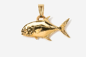 #P216G - Permit 24K Gold Plated Pendant