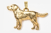 #P450AG - Labrador Retriever 24K Gold Plated Pendant