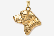 #P450BG - Labrador Retriever Head 24K Gold Plated Pendant