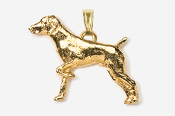 #P451G - German Shorthair 24K Gold Plated Pendant