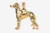#P453EG - Italian Greyhound 24K Gold Plated Pendant