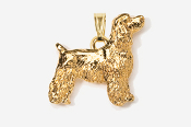 #P455EG - Pet Clip Cocker Spaniel 24K Gold Plated Pendant