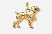 #P455G - Brittany 24K Gold Plated Pendant
