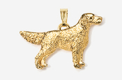 #P457G - English Setter 24K Gold Plated Pendant
