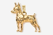 #P459AG - Miniature Pinscher 24K Gold Plated Pendant