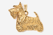 #P461BG - Scotty 24K Gold Plated Pendant