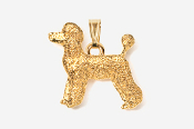 #P461DG - Pet Clip Poodle 24K Gold Plated Pendant
