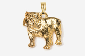 #P463AG - Bulldog 24K Gold Plated Pendant