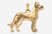 #P463BG - Great Dane 24K Gold Plated Pendant