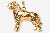 #P463CG - Mastiff 24K Gold Plated Pendant