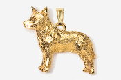 #P858G - Australian Cattle Dog / Blue Heeler Plated Pendant