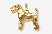 #P859G - Airedale 24K Gold Plated Pendant