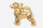 #P864G - Portuguese Water Dog 24K Gold Plated Pendant