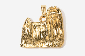 #P865G - Show Clip Maltese 24K Gold Plated Pendant