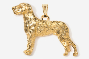 #P870CG - Irish Wolfhound 24K Gold Plated Pendant