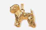 #P875G - Wheaten Terrier 24K Gold Plated Pendant