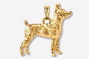 #P877CG - Rat Terrier 24K Gold Plated Pendant