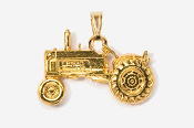 #P935G - Tractor 24K Gold Plated Pendant
