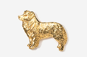 #854G - Border Collie 24K Gold Plated Pin