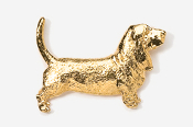 #855G - Basset Hound 24K Gold Plated Pin