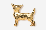 #860G - Smooth Chihuahua 24K Gold Plated Pin