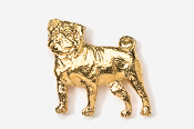 #861G - Pug 24K Gold Plated Pin