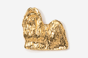 #862G - Show Clip Shih Tzu 24K Gold Plated Pin