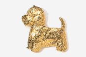 #863G - Westie 24K Gold Plated Pin