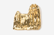#865G - Show Clip Maltese 24K Gold Plated Pin