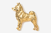 #870BG - Norwegian Elkhound 24K Gold Plated Pin