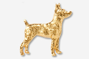 #877CG - Rat Terrier 24K Gold Plated Pin