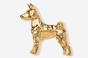 #879G - Basenji 24K Gold Plated Pin
