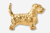 #886G - PBGV 24K Gold Plated Pin